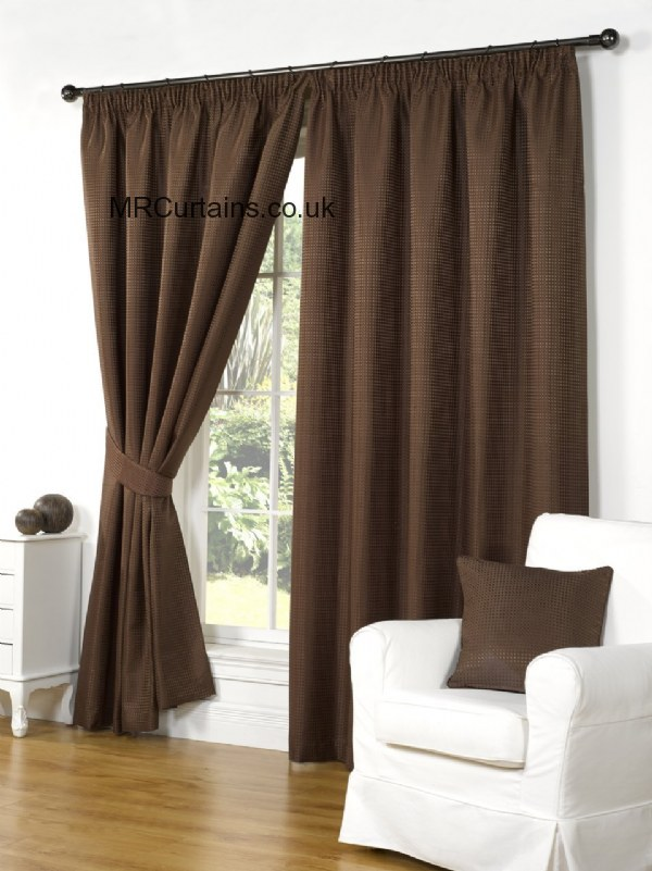 Impressions Waffle Pencil Pleat Curtain From 163 14 99 In Brown