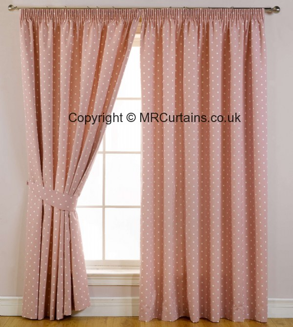 Sundour Dotty (Blackout) (Pencil Pleat) curtain from £18.75 in Rose