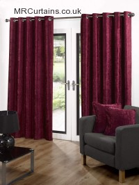 Velvet (Eyelet Heading) ready made curtain
