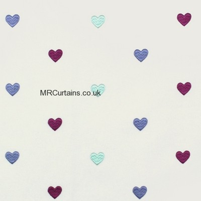 Love Hearts made to measure curtain
