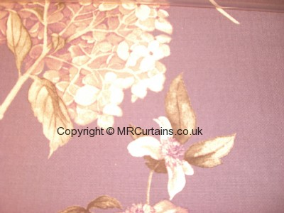 Hydrangea made to measure curtain