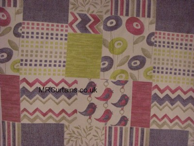 Patchwork curtain fabric
