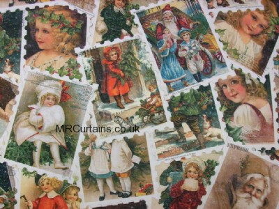 Christmas Stamps (Christmas Fabric) made to measure curtain