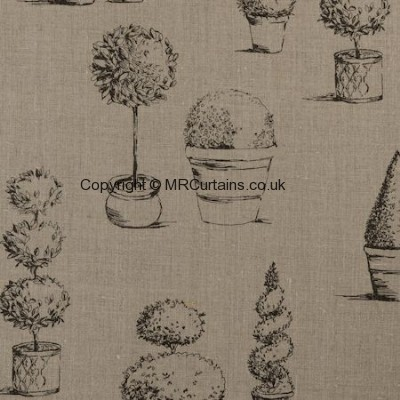 Topiary curtain fabric