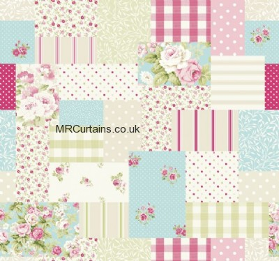 Vintage Patch curtain fabric