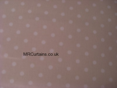 Polka curtain fabric