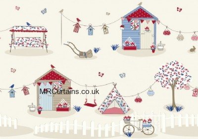 Summer Holiday curtain fabric