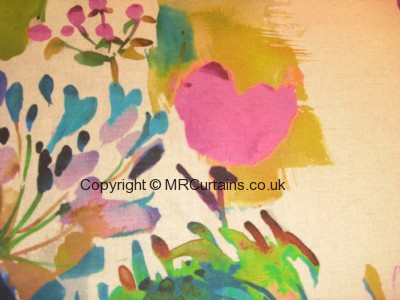 Painted Garden curtain fabric