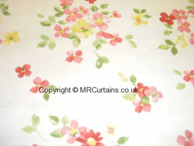 Posie curtain fabric