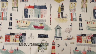 Seaside View curtain fabric