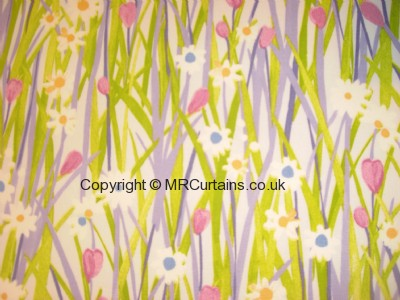 Spring Daisy curtain fabric
