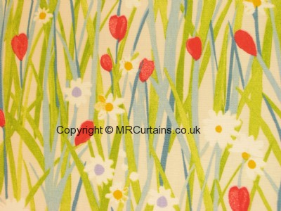 Spring Daisy made to measure curtain