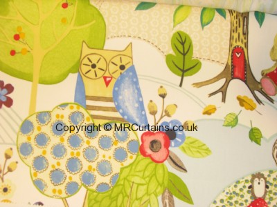Woodland Friends curtain fabric