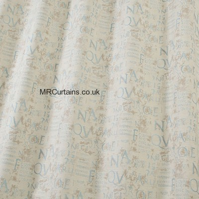 Calligraphy curtain fabric