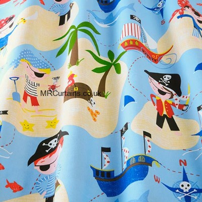 Pirates Life for Me curtain fabric