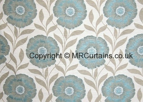 April By Chess Designs Curtain Fabric Teal 163 19 99