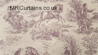 Toile curtain fabric