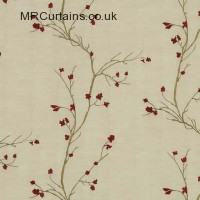Red curtain fabric material
