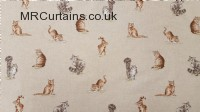Cat curtain fabric