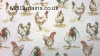 Hens curtain fabric