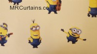 Minions curtain fabric