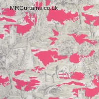 Manor Toile curtain fabric