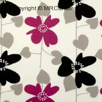 Fuchsia curtain fabric material