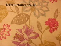 Pink / Old Gold 201 curtain fabric material