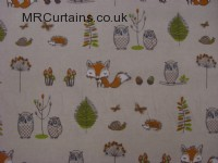 Woodland Fox curtain fabric