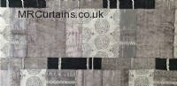 Noir curtain fabric material