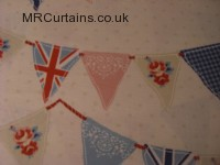 Bunting curtain fabric