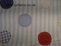 Patch curtain fabric