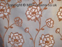 Blue/Brown curtain fabric material