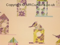 Aviary curtain fabric