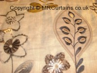 Chestnut curtain fabric material