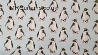 Penguin curtain fabric