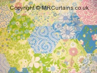 Picnic Patchwork curtain fabric