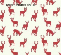 Stags curtain fabric