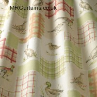 Moorland Animals curtain fabric
