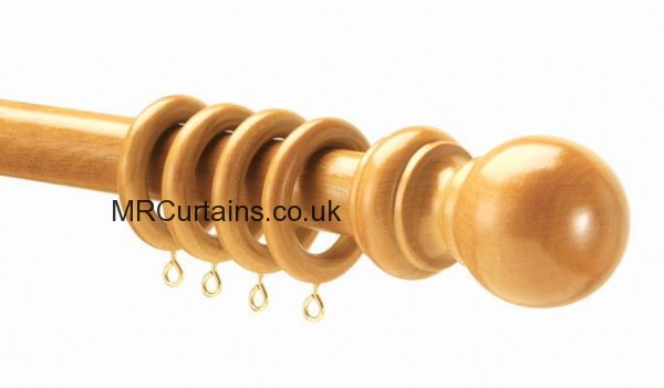 28mm County Wood Curtain Poles by Speedy (Wooden Curtain Pole) in